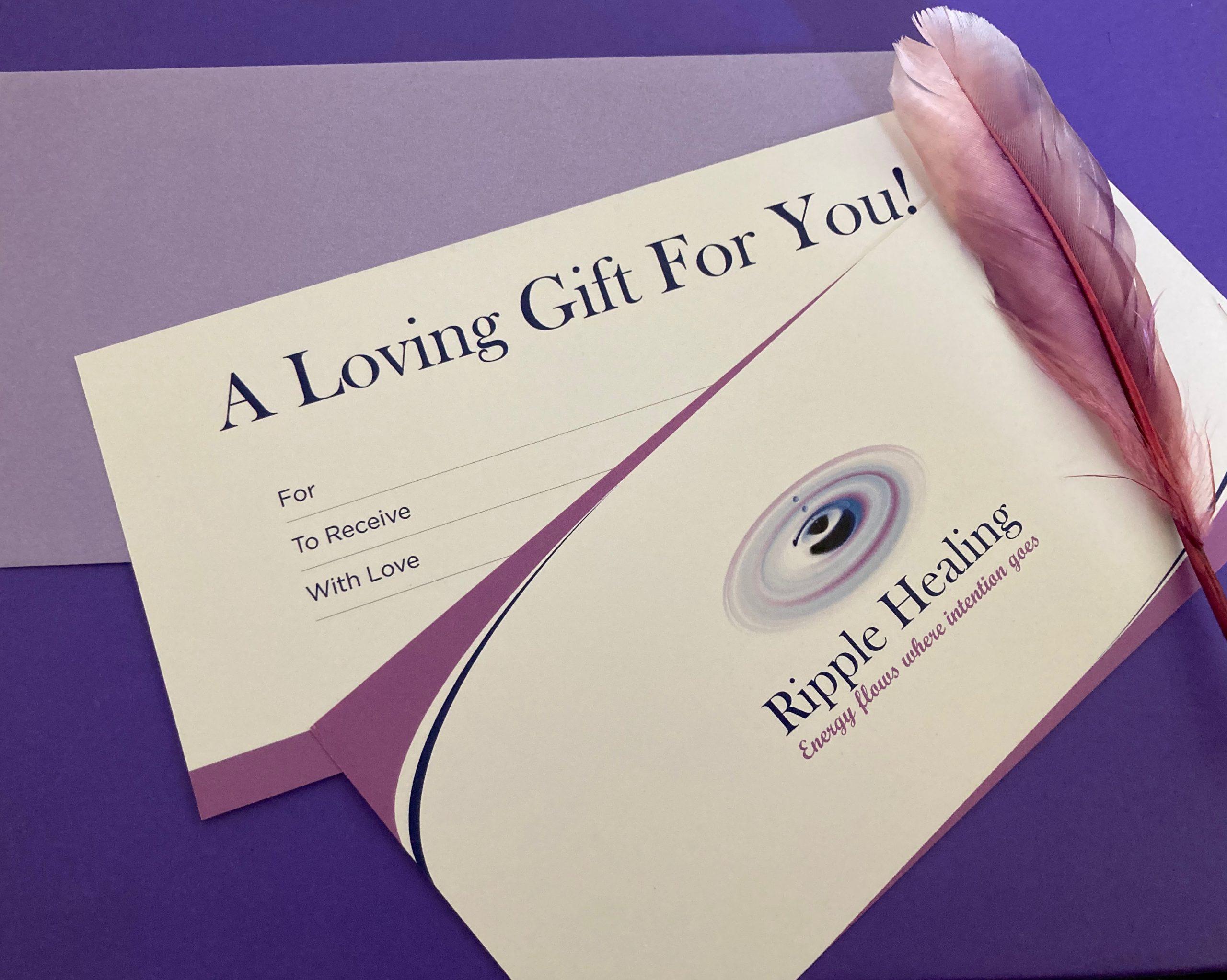 Energy Healing Voucher   Gifts of Healing   Pranic Energy Healing   Ripple Healing